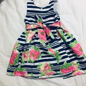 Floral/ stripe dress